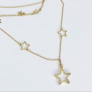 3-Layer Gold Stars Chain Necklace